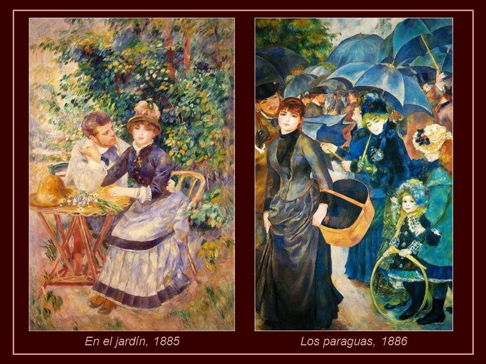En el jardín, 1885 Los paraguas, 1886