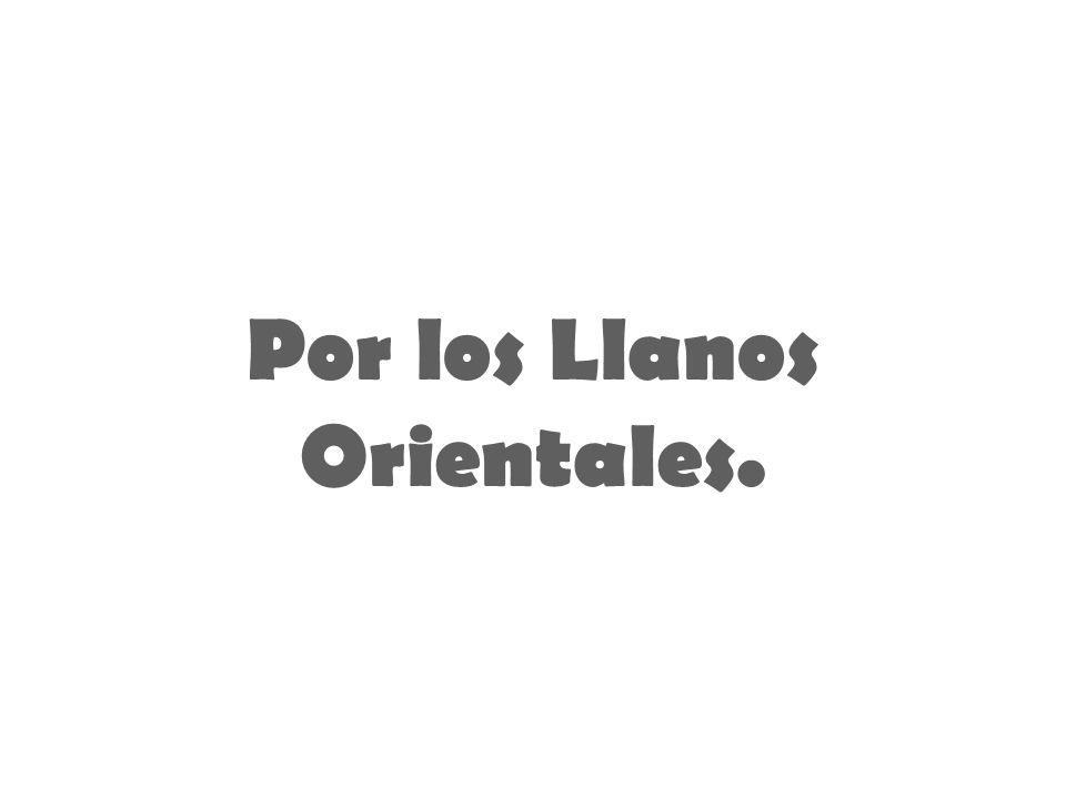 Por los Llanos Orientales.