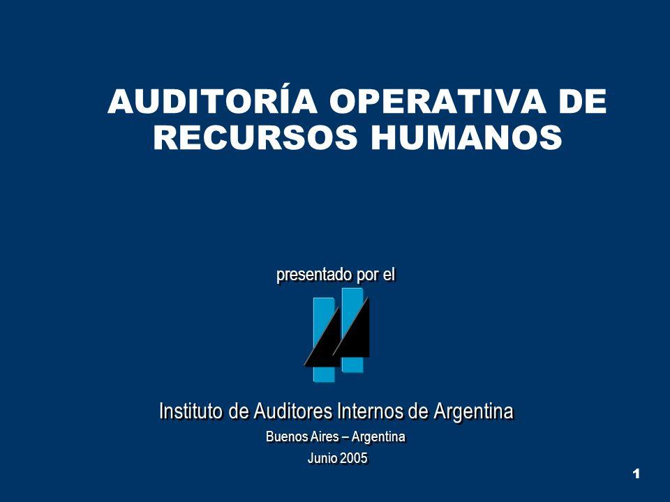 AUDITORÍA OPERATIVA DE RECURSOS HUMANOS