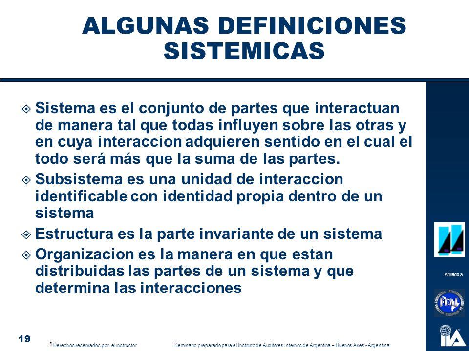 ALGUNAS DEFINICIONES SISTEMICAS