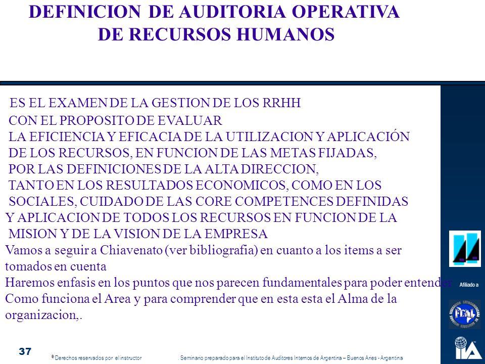 DEFINICION DE AUDITORIA OPERATIVA