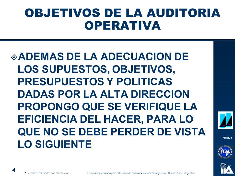 OBJETIVOS DE LA AUDITORIA OPERATIVA