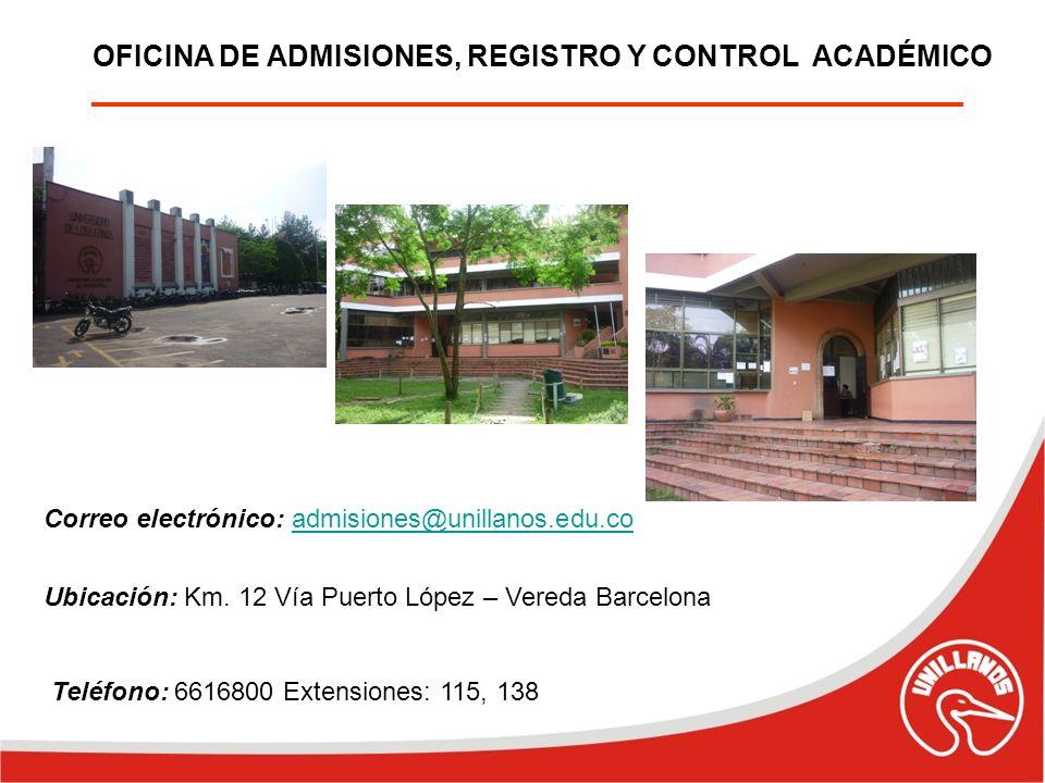 OFICINA DE ADMISIONES, REGISTRO Y CONTROL ACADÉMICO