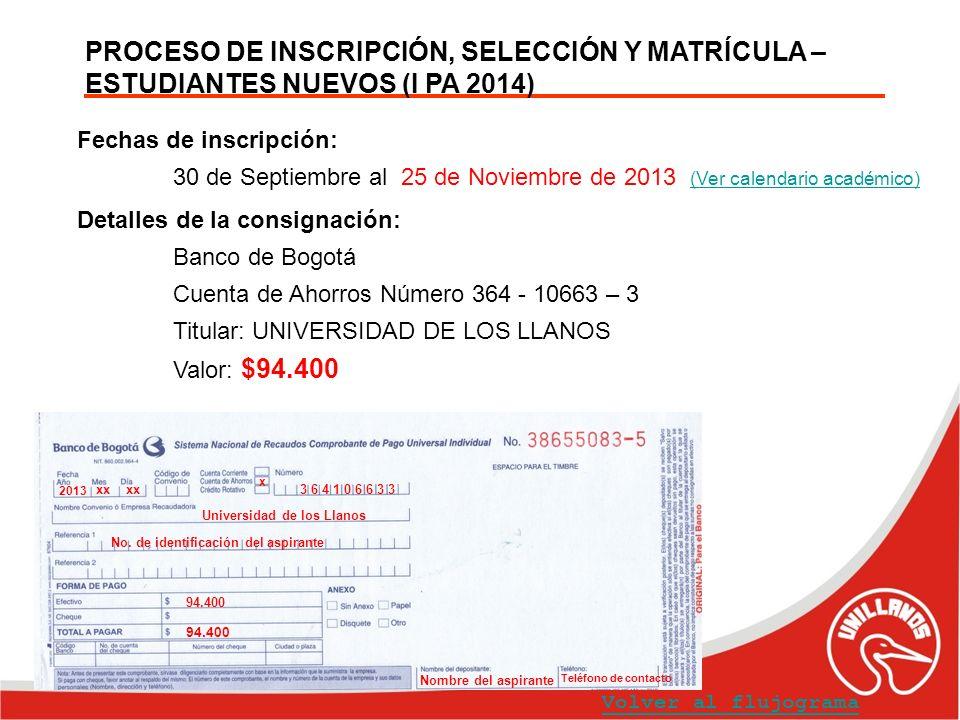 PROCESO DE INSCRIPCIÓN, SELECCIÓN Y MATRÍCULA – ESTUDIANTES NUEVOS (I PA 2014)