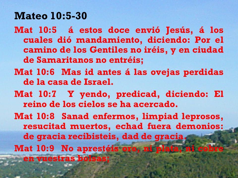 Mateo 10:5-30
