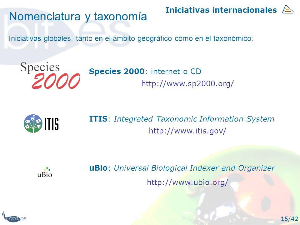 Nomenclatura y taxonomía