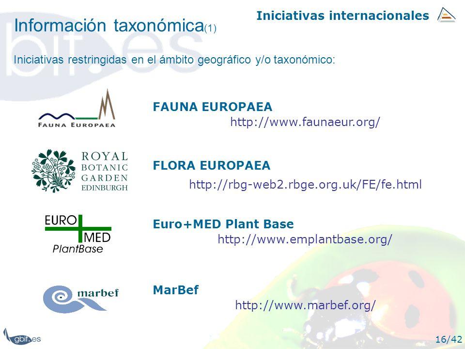 Información taxonómica(1)