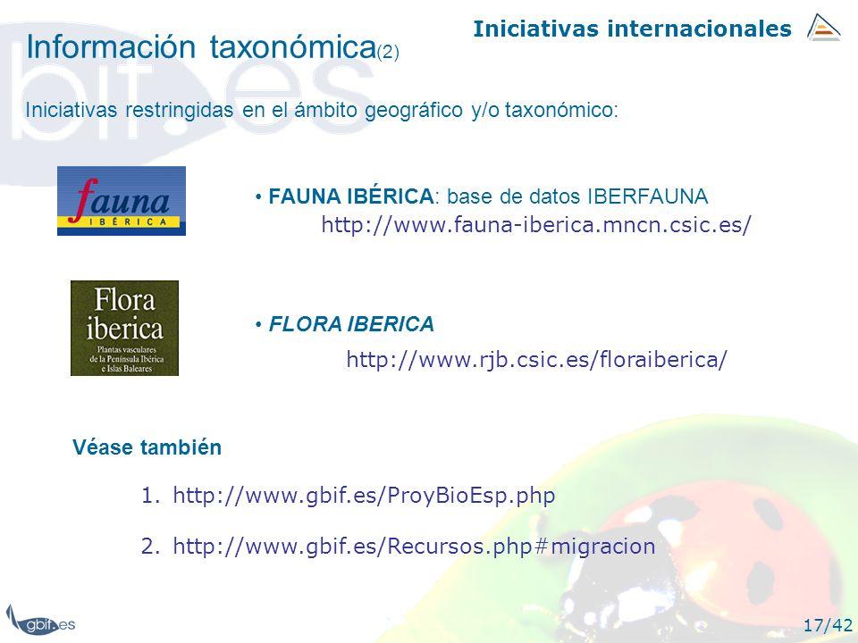 Información taxonómica(2)