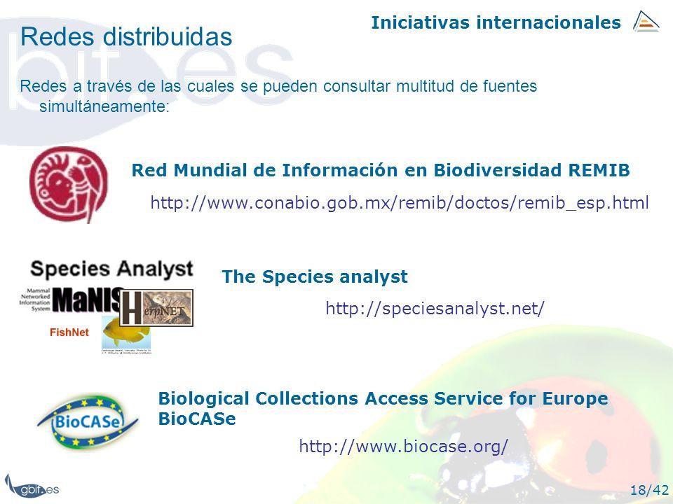 Redes distribuidas Iniciativas internacionales
