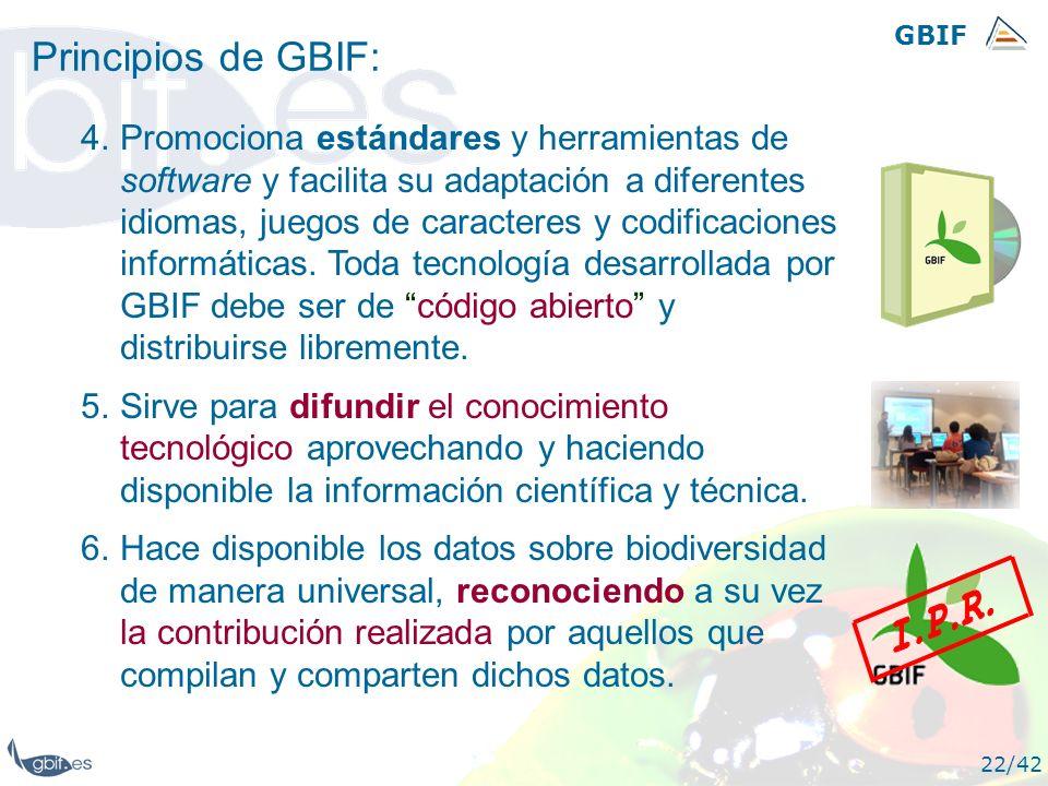 GBIFPrincipios de GBIF: