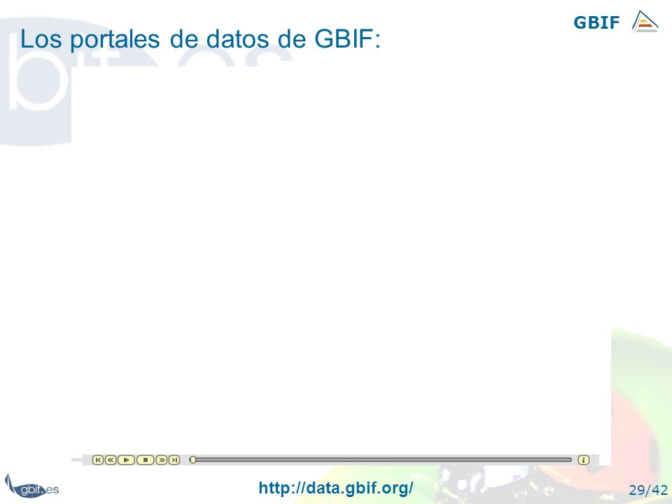 Los portales de datos de GBIF: