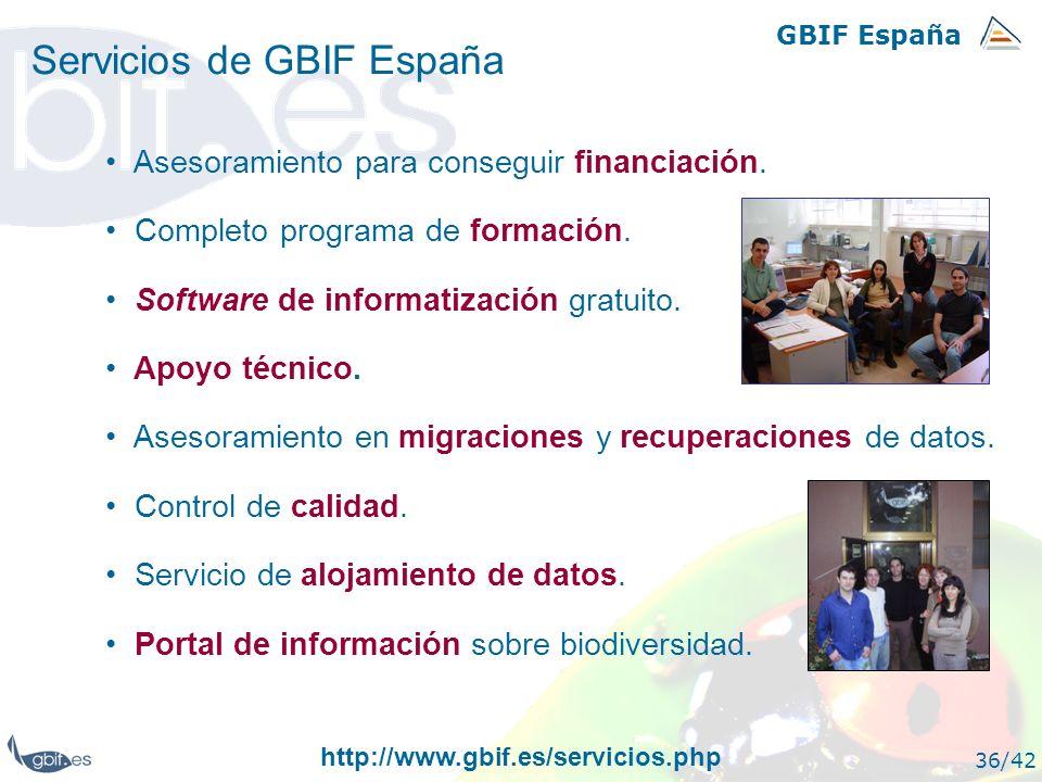 Servicios de GBIF España