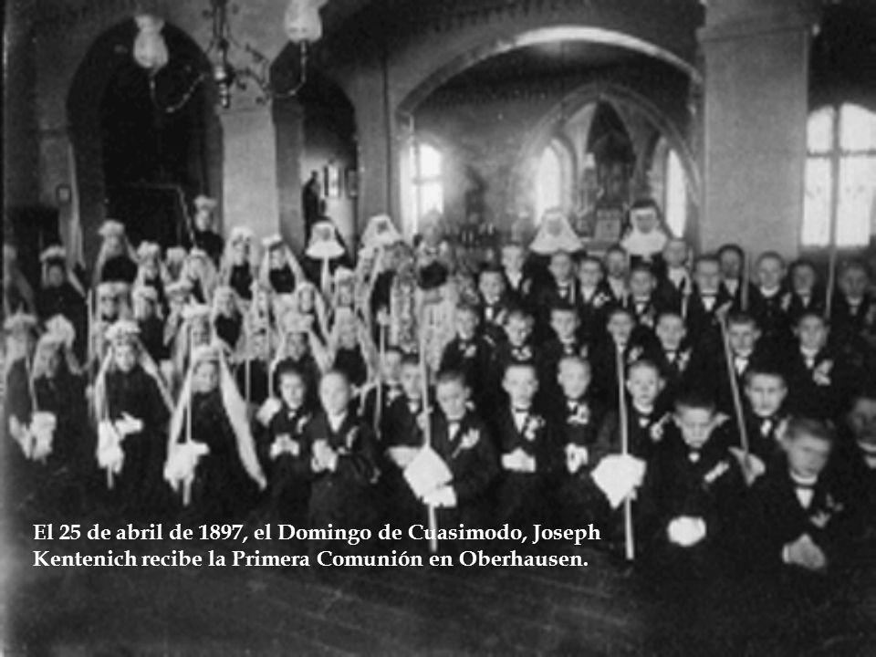 El 25 de abril de 1897, el Domingo de Cuasimodo, Joseph Kentenich recibe la Primera Comunión en Oberhausen.