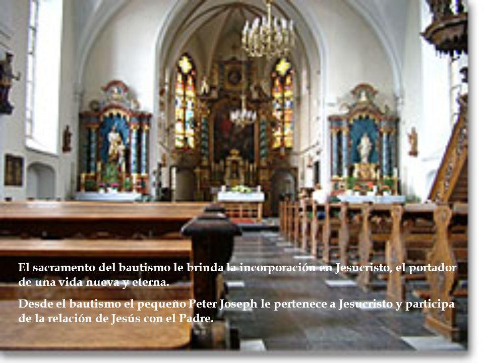 El sacramento del bautismo le brinda la incorporación en Jesucristo, el portador de una vida nueva y eterna.