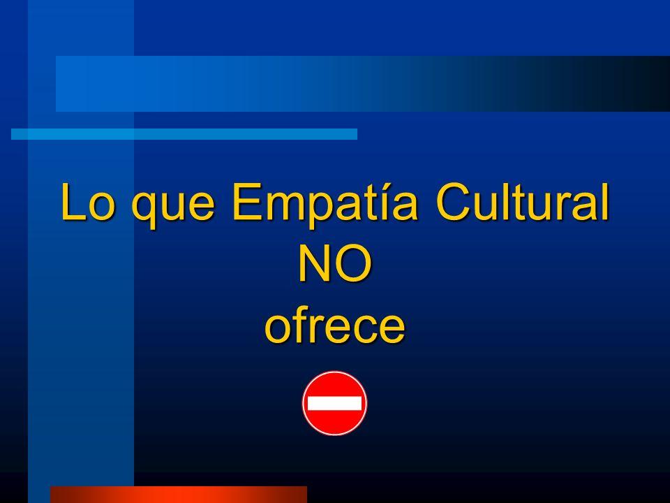 Lo que Empatía Cultural