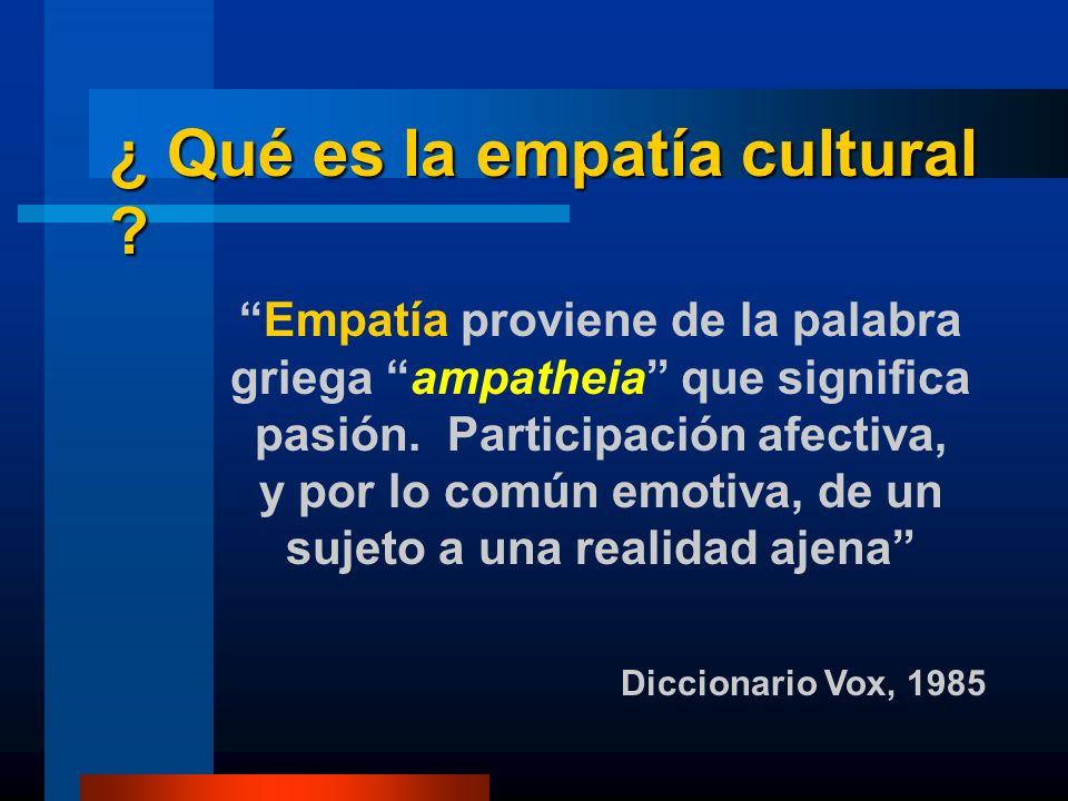 ¿ Qué es la empatía cultural