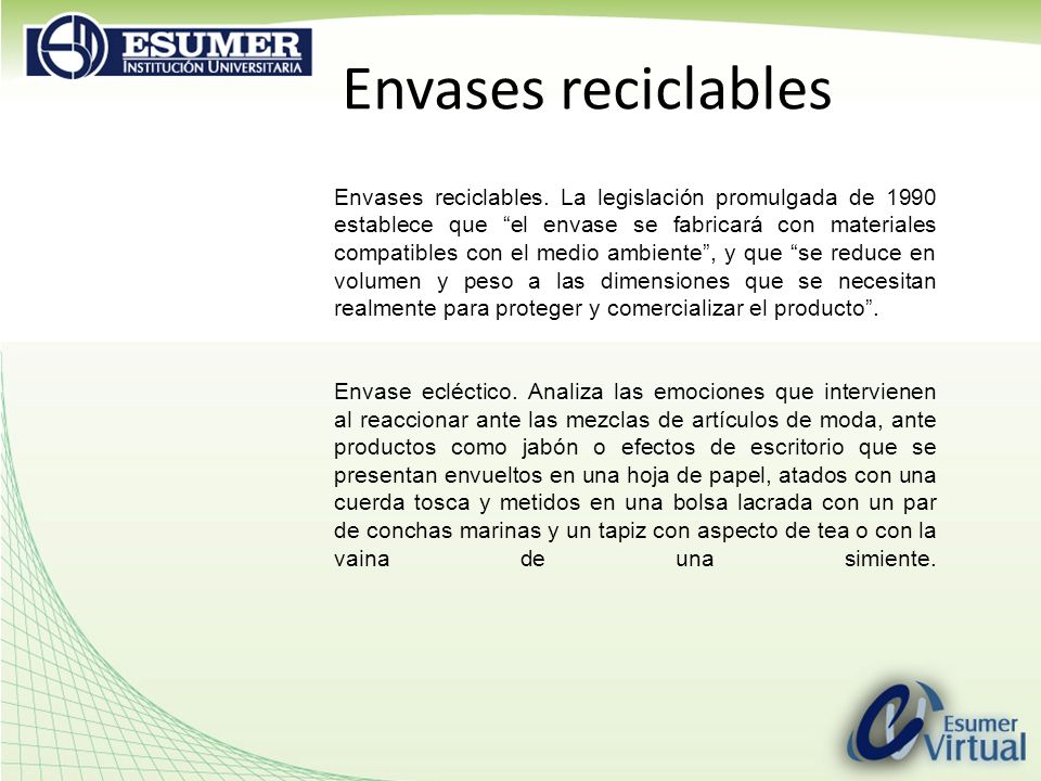 Envases reciclables