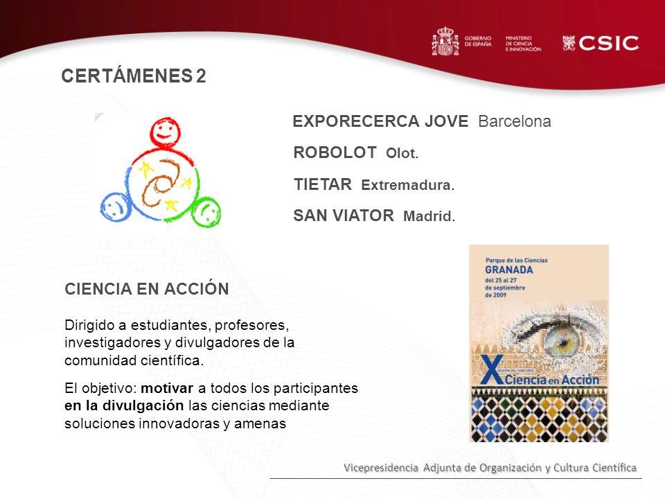 CERTÁMENES 2 EXPORECERCA JOVE Barcelona CIENCIA EN ACCIÓN
