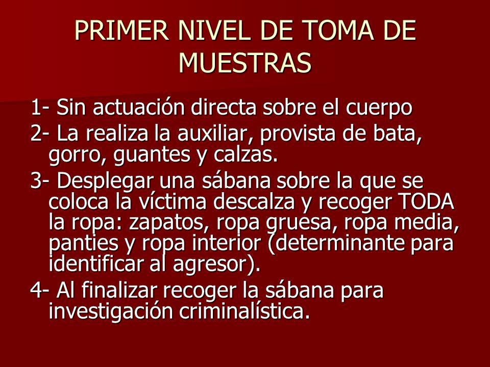 PRIMER NIVEL DE TOMA DE MUESTRAS