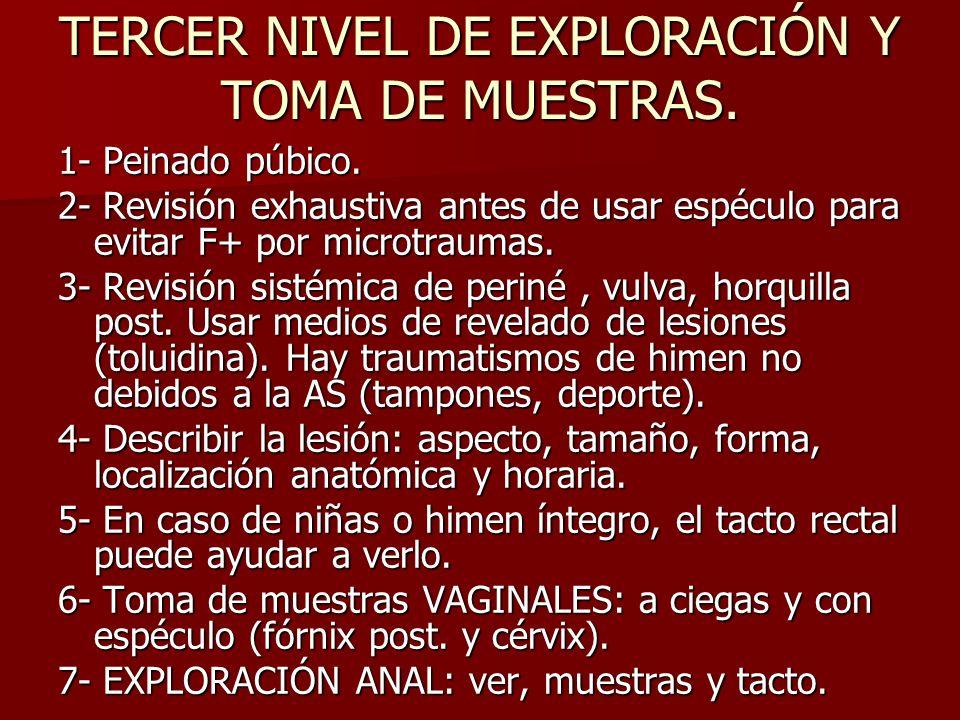 TERCER NIVEL DE EXPLORACIÓN Y TOMA DE MUESTRAS.