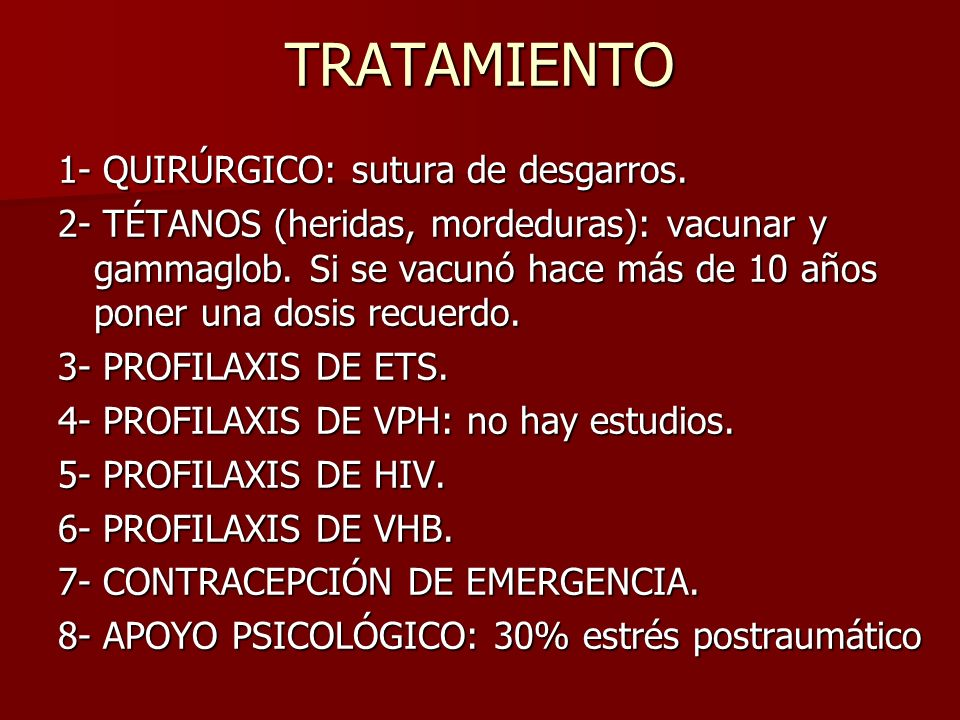 TRATAMIENTO 1- QUIRÚRGICO: sutura de desgarros.