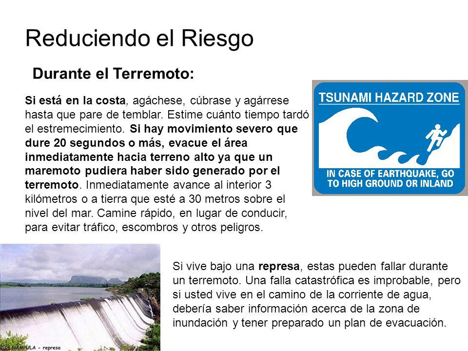 Reduciendo el Riesgo Durante el Terremoto: