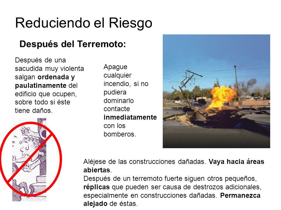 Reduciendo el Riesgo Después del Terremoto: