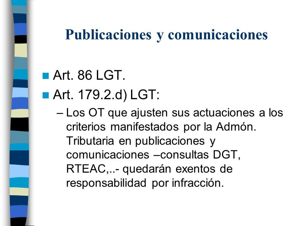 Publicaciones y comunicaciones