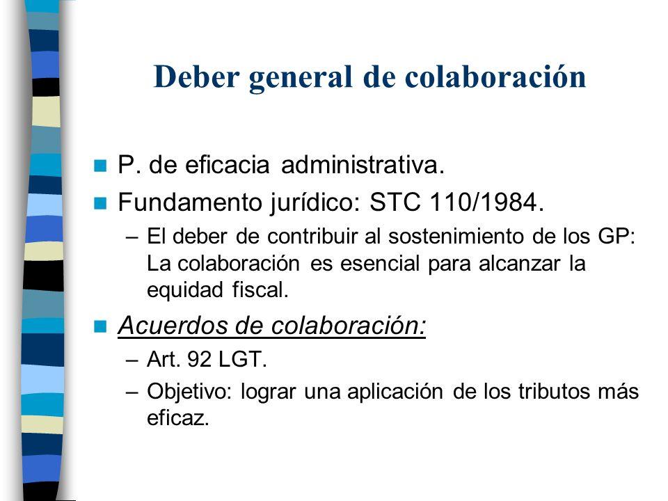 Deber general de colaboración