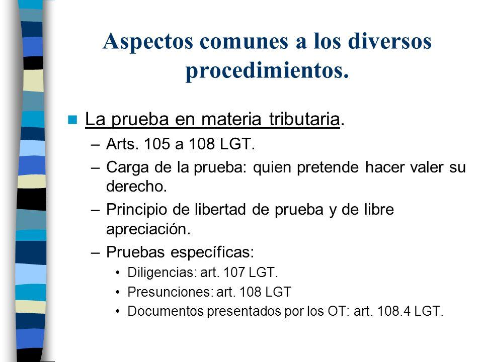 Aspectos comunes a los diversos procedimientos.
