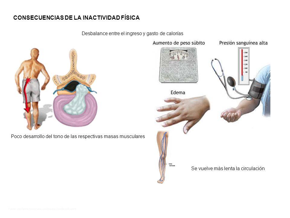 CONSECUENCIAS DE LA INACTIVIDAD FÍSICA