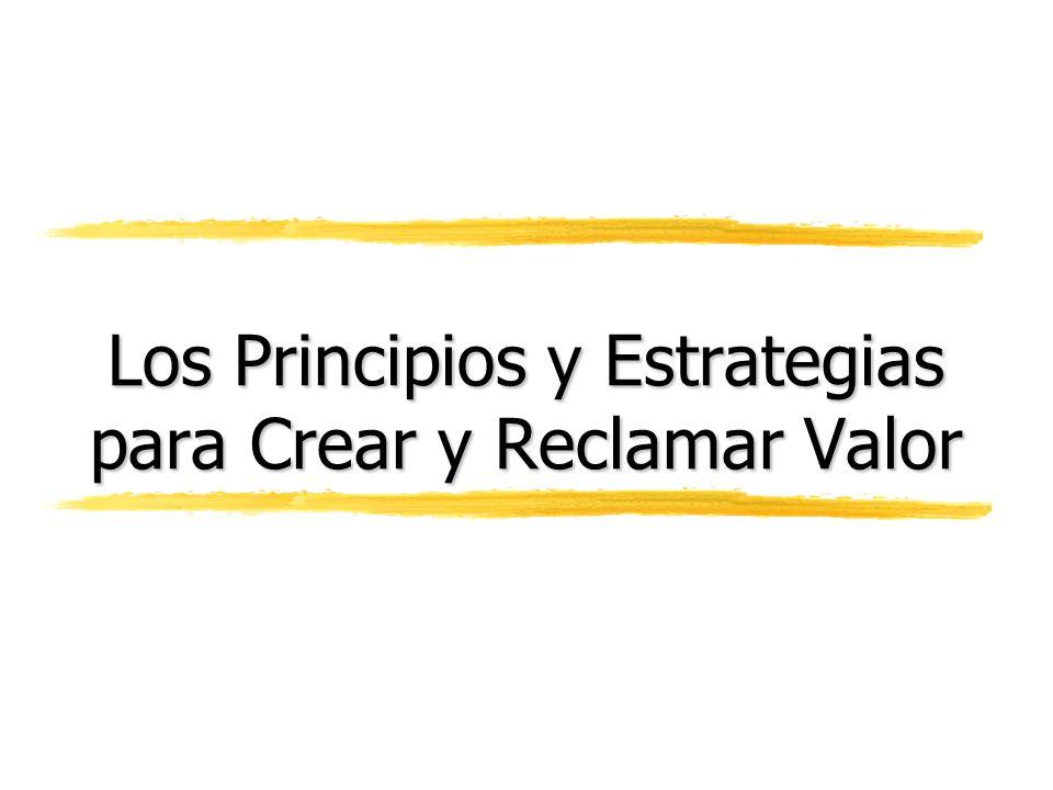 Los Principios y Estrategias para Crear y Reclamar Valor