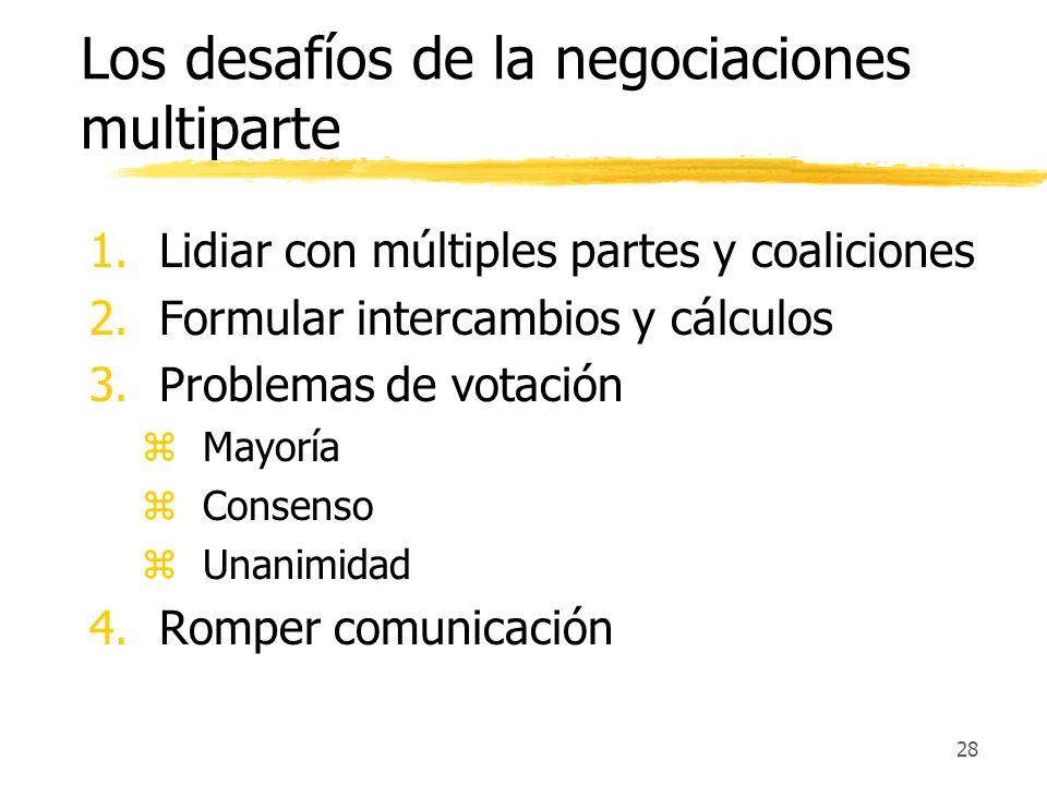 Los desafíos de la negociaciones multiparte