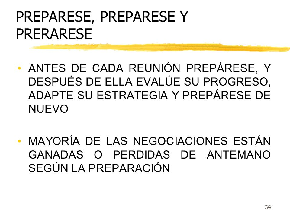 PREPARESE, PREPARESE Y PRERARESE