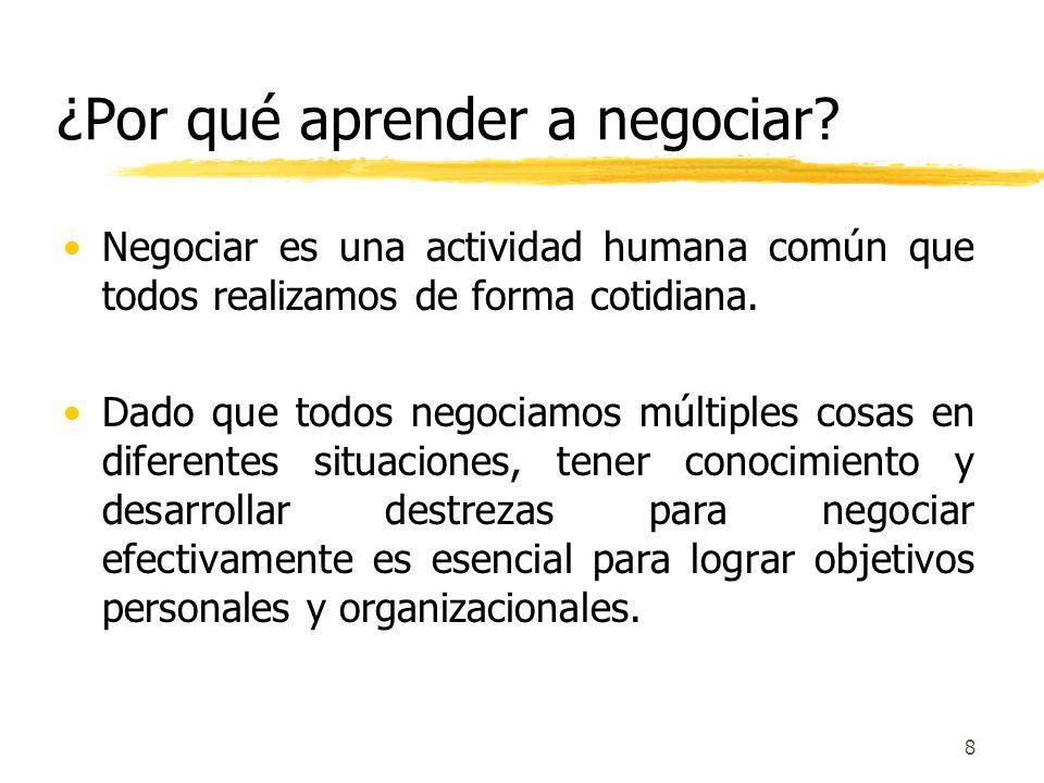 ¿Por qué aprender a negociar