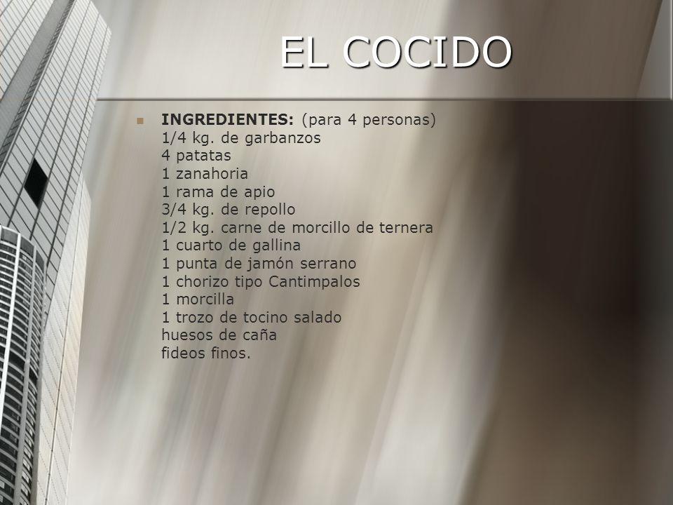 EL COCIDO