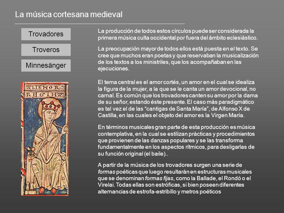 La música cortesana medieval