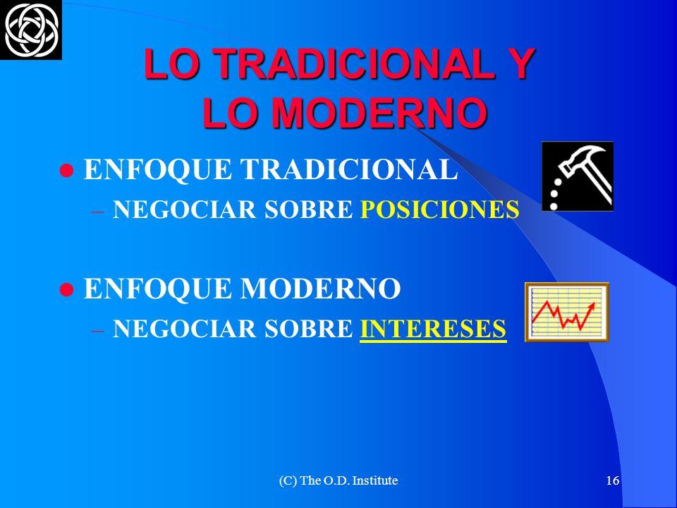 LO TRADICIONAL Y LO MODERNO
