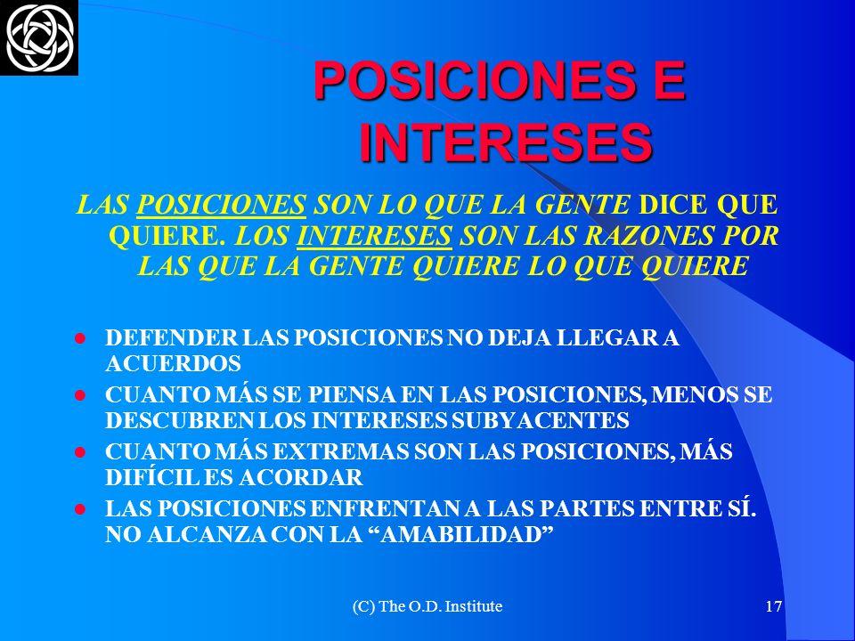POSICIONES E INTERESES