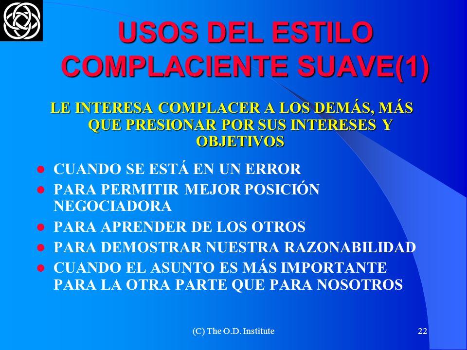 USOS DEL ESTILO COMPLACIENTE SUAVE(1)