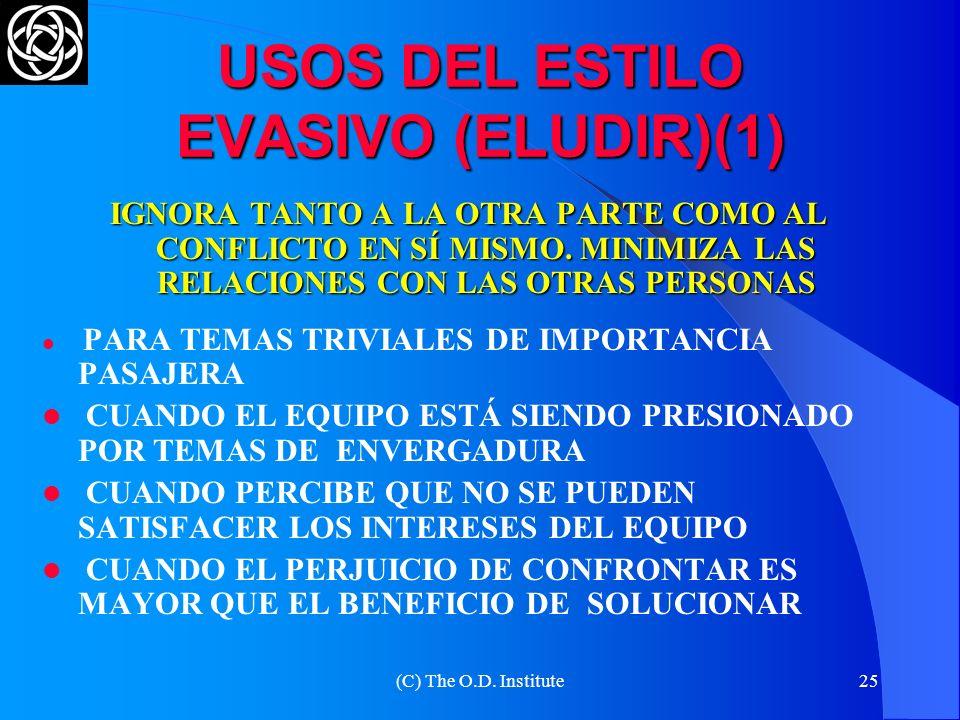 USOS DEL ESTILO EVASIVO (ELUDIR)(1)