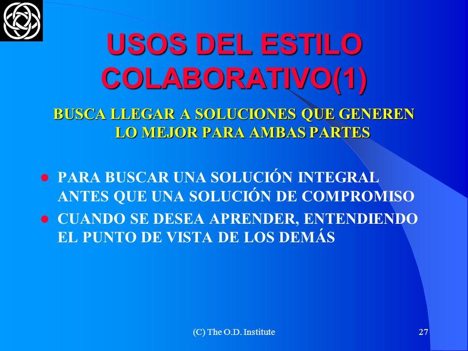 USOS DEL ESTILO COLABORATIVO(1)