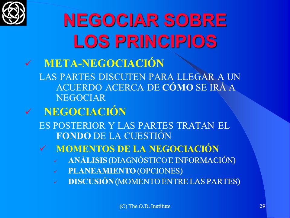 NEGOCIAR SOBRE LOS PRINCIPIOS