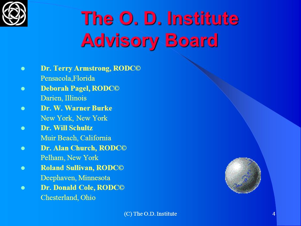 The O. D. Institute Advisory Board