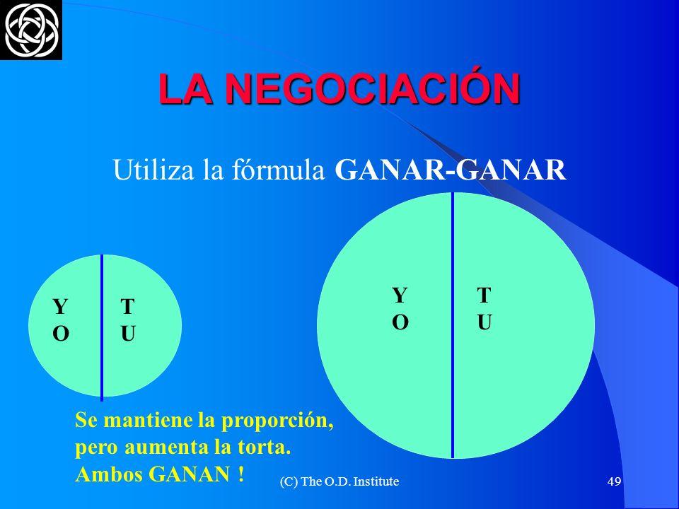 Utiliza la fórmula GANAR-GANAR