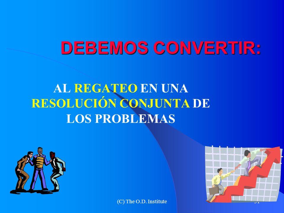 AL REGATEO EN UNA RESOLUCIÓN CONJUNTA DE LOS PROBLEMAS