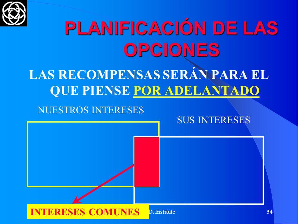 PLANIFICACIÓN DE LAS OPCIONES