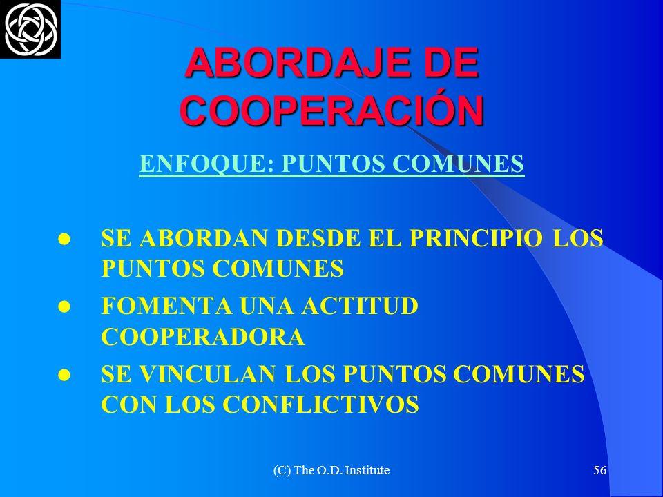 ABORDAJE DE COOPERACIÓN
