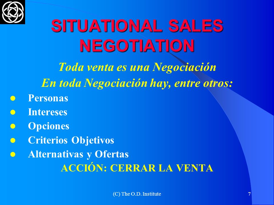 SITUATIONAL SALES NEGOTIATION