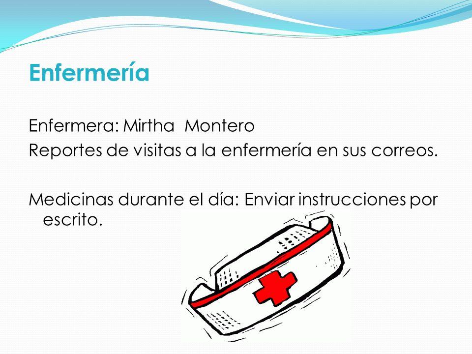 Enfermería Enfermera: Mirtha Montero